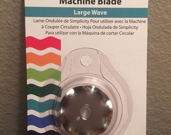 Simplicity Rotary Cutting Machine Blade Large Wave