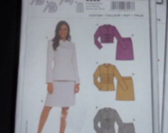 Burda 8013 Women Fitted Suit Jacket and Skirt Size 8-20   Uncut New