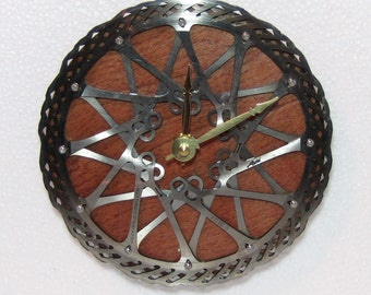 Recycled Avid Double Bicycle Disc Brake Rotor Wall Clock