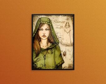 Daughter of Avragorn - Art Print 7.5x10