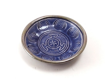 Hecate  Hekate's Wheel Spiral Offering Bowl Handmade Ceramic Pottery