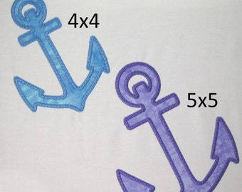 Machine Embroidery Design-Applique Anchor includes 2 sizes!