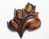Copper Floral Pin, Vintage RENOIR Copper TULIP Floral Flower Pin Brooch, Copper Flower Pin, Renoir Tulip Pin, Unsigned Renoir Jewelry