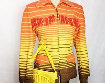 Vintage 1950s Siesta Western Fringed Jacket  M