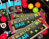 Video Game Party Candy Bar Labels. Candy Bar Arcade Theme Labels. Video Game Birthday Candy Bar Sleeves. Gaming Party Favors. Video Favors