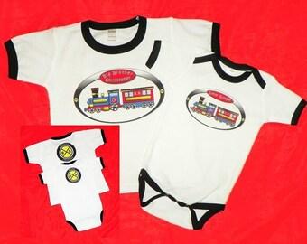 Train Big Brother Little Brother Shirt Set. Choo Choo Train Sibling Shirt Set. Brother Shirts. Baby Brother Train Bodysuit Tshirt Set.