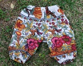 Hippie baby Harem pants -White Tree of Life - size 6 to 9 months-read measurements