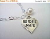 Wedding Jewelry Set of 5 Bridesmaid Sterling Silver Heart Bracelet