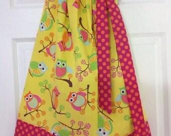 Ready to Ship!  Adorable Owls Pillowcase Dress Size 6
