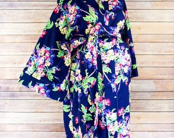 Alli Maternity Kimono Labor and Delivery Robe - Add a Delivery Gown for a Perfect Set- Perfect for Skin to Skin Breastfeeding