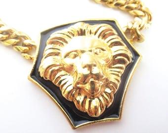 Vintage 90's Avon // Gold Lion Necklace