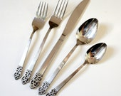 Vintage Japan International Rogers Doric 52 Pc Stainless Flatware Set / Almost Service for 8 Plus Hostess