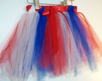 4th of July Tutu with Magic Wand!  Red, White and Blue, Costume, Dress up, Playtime, Halloween