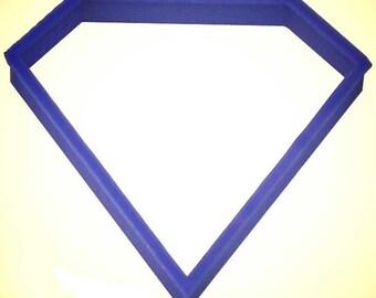 "Diamond cookie cutter, Jewel cookie cutter, 3.5"", super hero sign"