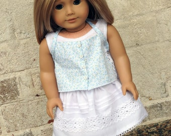 18 Inch Doll Clothes Handmade Spring and Summer Skirt, Cami, and Tank Top