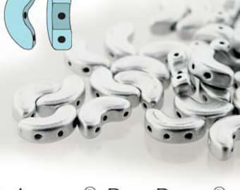 free UK postage 10 grams Arcos Par Puca Beads Silver Aluminium Mat ARC510-00030-01700