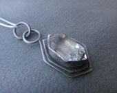 Two Pointed Ends Natural Quartz Crystal Necklace