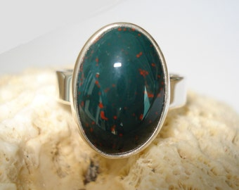 "Mens Bloodstone Ring   ""Made to Order"""