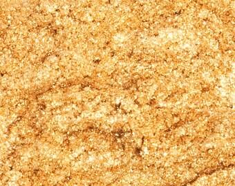 Gold Mica 1 Oz or 4 Oz, Gold Sparkle Mica, Gold Shimmer Mica, Gold Glitter Mica, Gold Pearl Mica