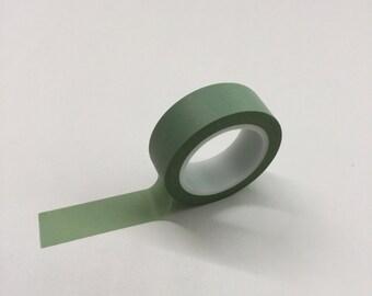 Washi Tape Set - 15mm - Sage Green -  Washi Tape #33