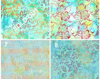 Batik Fabric Samples for Custom Orders - Not For Sale - Updated 19 May 2016