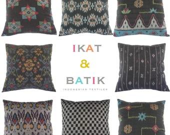 WHOLESALE, 20 PIECES, Pillow, Cushion, Cotton, Ikat, Ethnic, Bohemian, Tropical, Industrial, Graphic, Global Decor, Bali