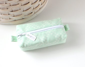 Small Boxy Pouch Pastel Mint Green Coin Purse Mint Green Change Purse Credit Card Holder