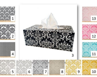 Damask tissue cover in your choice of fabric - kleenex box cover