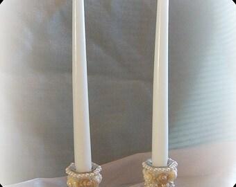 Sparkling Seas Seashell Candle Holders