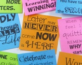 Printable Template for Motivational Post-It Notes -Take the Random Acts of Motivation Challenge