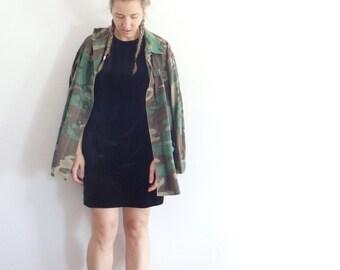 Velvet Dress Vintage Black Sleeveless