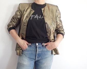 Blazer Vintage Metallic Gold Jacket