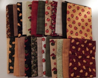 NEW Folk Art Fabric Bundle Quilt Craft Fat Quarter Bundle- The Full Line