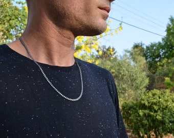 Panzer chain-3.5W-basic silver chain-Grange Necklace-Basic chain for man-Rugged chain-Pendant-Cool-Hipster-Chain-No Fuss-Strong Necklace-MJ