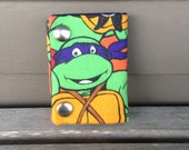TMNT Donatello 3 Fold Chain Wallet Recycled