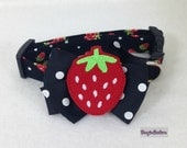 Strawberry Fields Summer 2016 Dog Collar Size XS through Large by Doogie Couture Pet Boutique