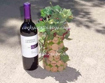 Wine cork tree - floral alternative,  table centerpiece, bar decor