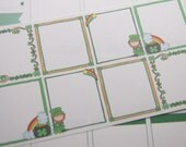 St. Patrick's Day Planner Stickers Full Box Stickers Vertical Planner Stickers Horizontal Planner Stickers PS363