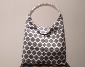 Lunch Bag Insulated Charcoal and Ivory