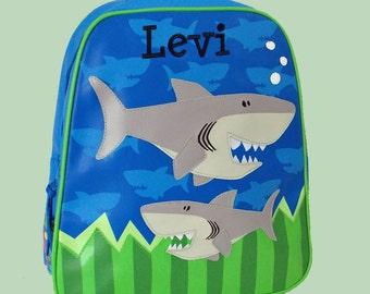 Personalized Stephen Joseph GoGo Backpack SHARK Themed Bag-Monogramming Included