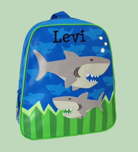 Personalized Stephen Joseph GoGo Backpack SHARK Themed Bag-Monogramming Included