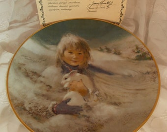 Thorton Utz Hamilton Snow Bunny Collectible Plate