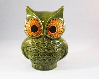 Retro Owl Candle Holder