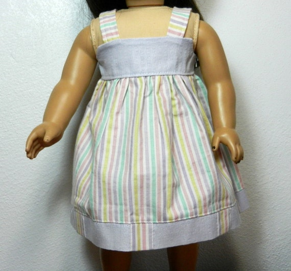 bk pastel pink lavender yellow white green stripe sundress