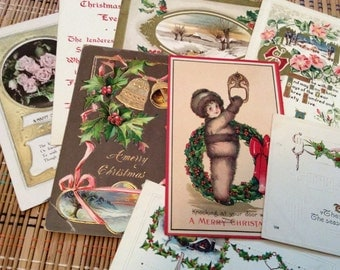 Vintage Holiday Postcard Assortment--Christmas