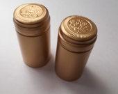 Wine Hoods - Wine Making Bottle Hoods - Bottle Shrink Hoods - Wine Caps - Wine Covers - Burgundy, Green or Gold - DYI Glitter Caps - 10 caps