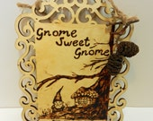 Gnome Sweet Gnome Wall Hanging