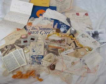 46 Piece Antique Inspiration Kit for Craft, Scrap Book or Mixed Media Projects (lot 4)