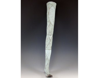 Ceramic Wall Hanging Sculpted Leg and Foot with nice Decorations