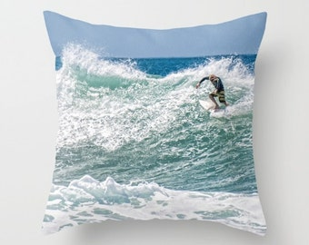 Blonde Surfer 16 x 16 or 18 x 18 Pillow Cover Surf Decor